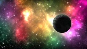 Galassia dell'universo con molti stelle e pianeti illustrazione vettoriale