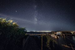 Galassia della Cina in Taihu Jiangsu fotografia stock