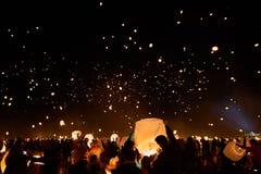 Galassia della lanterna nel cielo immagini stock libere da diritti