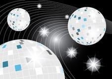 Galassia della sfera della discoteca Immagine Stock Libera da Diritti
