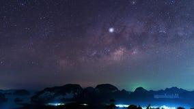 Galassia della Via Lattea alla provincia Tailandia di Phang Nga del sametnangshe fotografia stock libera da diritti