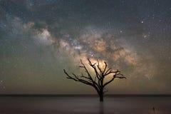Galassia della Via Lattea della spiaggia della baia di botanica fotografia stock libera da diritti