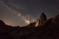 Galassia della Via Lattea delle colline dell'Alabama Fotografia Stock Libera da Diritti