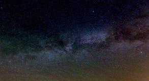 Galassia della Via Lattea vicino sul cielo fotografia stock libera da diritti