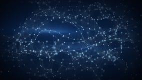 Galassia delle particelle cibernetiche 3D astratti rendono Fotografia Stock
