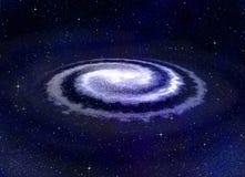 Galassia di vortice a spirale nello spazio Immagine Stock Libera da Diritti