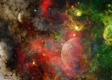 Galassia e pianeta nello spazio cosmico Elementi di questa immagine ammobiliati dalla NASA fotografie stock