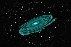 Galassia e spazio di torsione Fotografia Stock