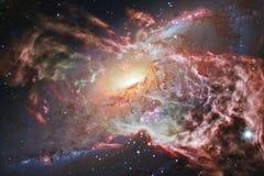 Galassia impressionante nello spazio cosmico Starfields di universo senza fine immagine stock