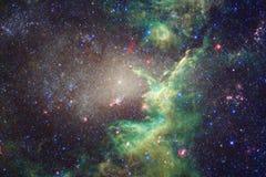 Galassia impressionante nello spazio cosmico Starfields di universo senza fine illustrazione vettoriale