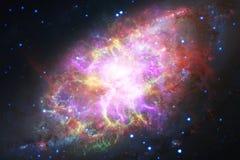Galassia incredibilmente bella da qualche parte nello spazio profondo Carta da parati della fantascienza fotografia stock