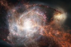 Galassia incredibilmente bella da qualche parte nello spazio profondo Carta da parati della fantascienza royalty illustrazione gratis
