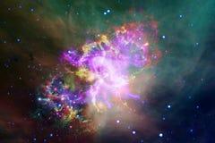 Galassia incredibilmente bella molti anni luci lontano dalla terra Elementi di questa immagine ammobiliati dalla NASA immagine stock libera da diritti