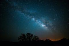 Galassia lunga di esposizione Fotografia Stock