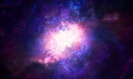 Galassia multicolore astratta artistica della nebulosa riempita di fondo luminoso delle stelle fotografia stock