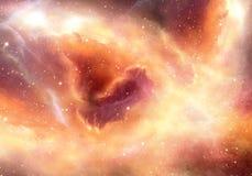 Galassia multicolore d'ardore artistica liscia unica della nebulosa nel fondo del materiale illustrativo dello spazio profondo immagine stock