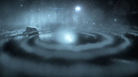 Galassia, nebulosa, stelle, buco nero Immagini Stock Libere da Diritti