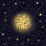 Galassia nella finestra Composizione astratta illustrazione vettoriale
