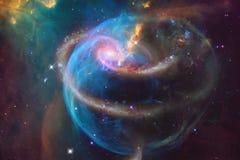 Galassia nello spazio cosmico, bellezza dell'universo fotografie stock libere da diritti
