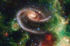 Galassia nello spazio cosmico, bellezza dell'universo immagini stock