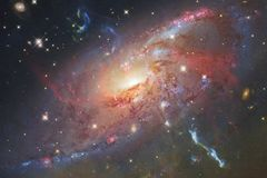 Galassia nello spazio cosmico, bellezza dell'universo illustrazione di stock
