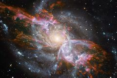 Galassia nello spazio cosmico, bellezza dell'universo Elementi di questa immagine ammobiliati dalla NASA fotografia stock libera da diritti