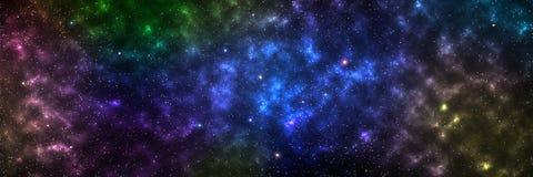 galassia orizzontale per fondo e progettazione, elemento di questo imag immagini stock