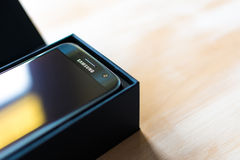 Galassia S7 di Samsung fotografie stock libere da diritti