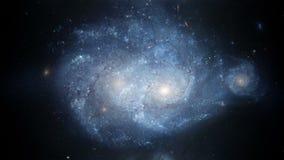 Galassia a spirale animazione realistica 3d 4K illustrazione di stock