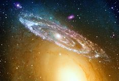 Galassia a spirale brillante immagini stock