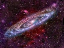 Galassia a spirale d'ardore Immagini Stock