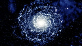 Galassia a spirale girante stock footage