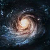 Galassia a spirale incredibilmente bella da qualche parte dentro illustrazione di stock