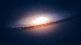 Galassia a spirale incredibilmente bella di alta risoluzione immagini stock