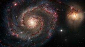 Galassia a spirale nello spazio cosmico illustrazione di stock
