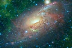 Galassia a spirale nello spazio cosmico Elementi di questa immagine ammobiliati dalla NASA immagine stock
