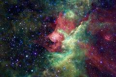 Galassia, starfield, nebulose, mazzo delle stelle nello spazio profondo Arte della fantascienza fotografie stock