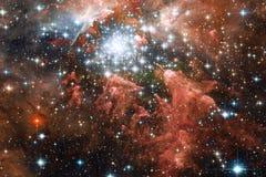 Galassia, starfield, nebulose, mazzo delle stelle nello spazio profondo Arte della fantascienza illustrazione vettoriale