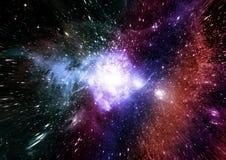 Galassia in uno spazio libero immagini stock libere da diritti