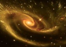 Galassia in uno spazio libero illustrazione vettoriale