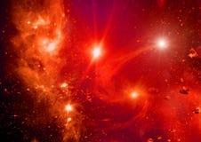 Galassia in uno spazio libero Immagini Stock