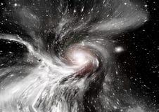 Galassia in uno spazio libero fotografia stock
