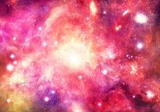 Galassia variopinta astratta artistica della nebulosa in universo dello spazio profondo immagine stock