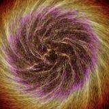Galassia variopinta astratta che gira creando i modelli interessanti illustrazione vettoriale