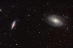 Galassie di Sigar e preannunciato Fotografie Stock Libere da Diritti
