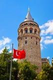 galata伊斯坦布尔塔火鸡 库存照片