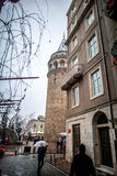 galata伊斯坦布尔塔火鸡 免版税库存照片