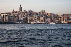 galata伊斯坦布尔塔 库存图片