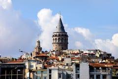galata伊斯坦布尔塔 免版税图库摄影