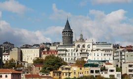galata伊斯坦布尔塔 图库摄影